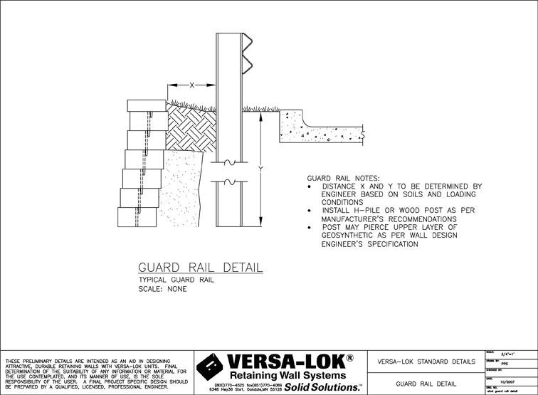Detail Drawings Versa Lok